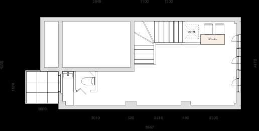 牧神画廊 平面図